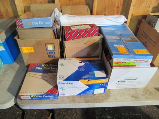 LOT W/(5) BOXES OF NEW FILE FOLDERS