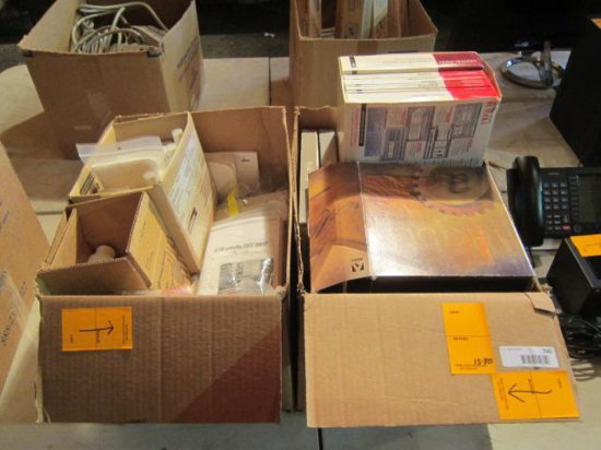 (2) BOXES OF ASSORTED COMPUTER SOFTWARE