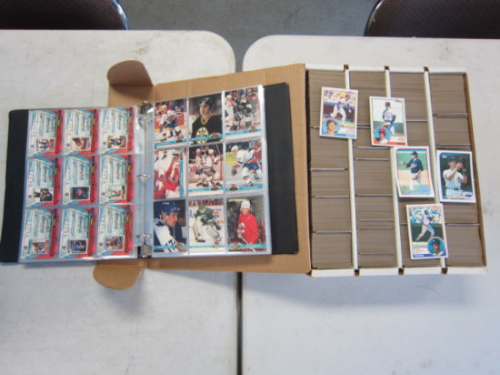 TOTE OF ASSORTED SPORTS CARDS (MOSTLY BASEBALL)