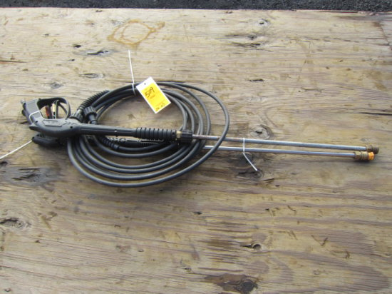 (2) PRESSURE WASHER WANDS AND (1) PRESSURE WASHER  HOSE