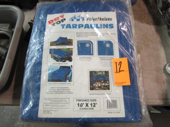 (3)10' X 12' TARPS (NEW)