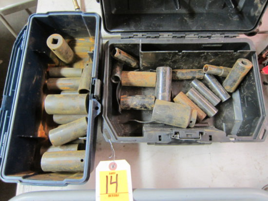 (2) TOOLBOXES/ASSORTED 1/2'' DRIVE DEEP IMPACT SOCKETS