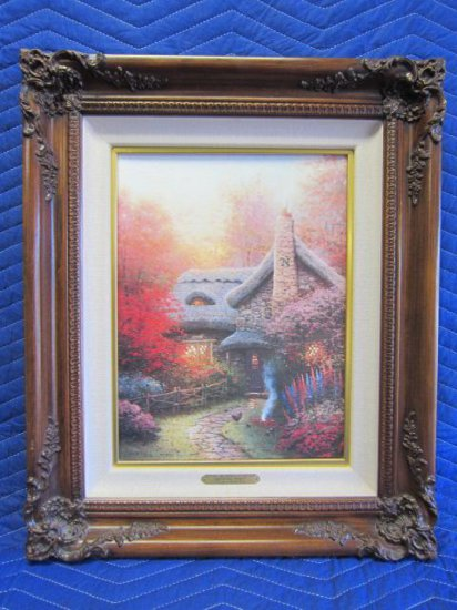 ''AUTUMN AT ASHLEY'S COTTAGE'' BY THOMAS KINKADE, SUGAR AND SPICE COTTAGES II, LIMITED EDITION