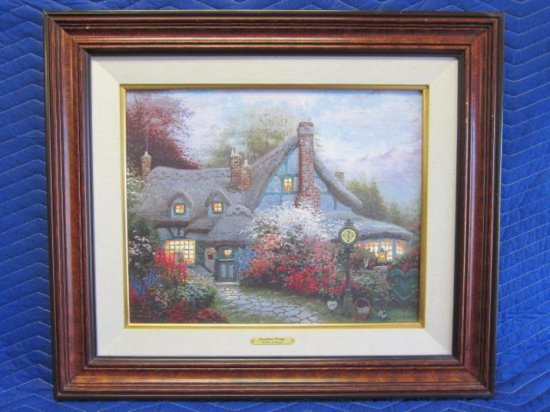 ''SWEETHEART COTTAGE'' BY THOMAS KINKADE, LIMITED EDITION OFFSET LITHOGRAPH, ARTIST PROOF, 136/200