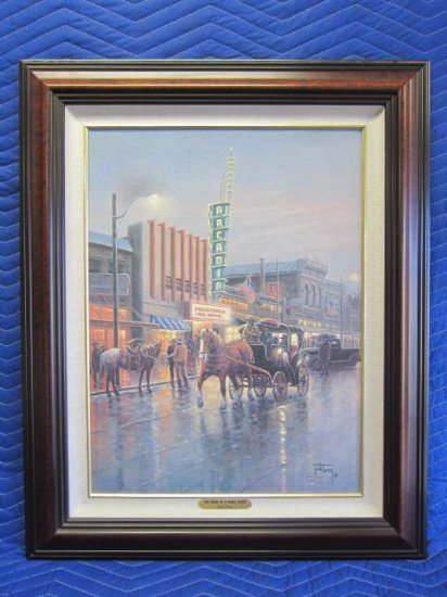 ''BIG NIGHT IN A SMALL TOWN'' BY JACK TERRY, LIMITED EDITION CANVAS PRINT, 103/250 CANVAS,