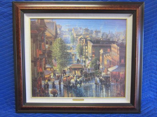 ''SAN FRANCISCO - THE 1880'S'' BY JACK TERRY, SIGNED ON REVERSE, ''BEST WISHES, JACK TERRY 9/95''