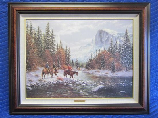 ''MORNING ON THE MERCED'' BY JACK TERRY, LIMITED EDITION CANVAS PRINT, 210/750 CANVAS, CERTIFICATE