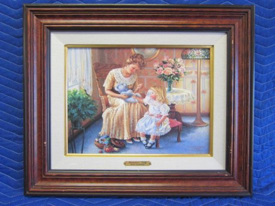 ''ALEXANDRIA'S TEDDY'' BY DONA GELSINGER, LIMITED EDITION CANVAS PRINT, 11/250 CANVAS, CERTIFICATE