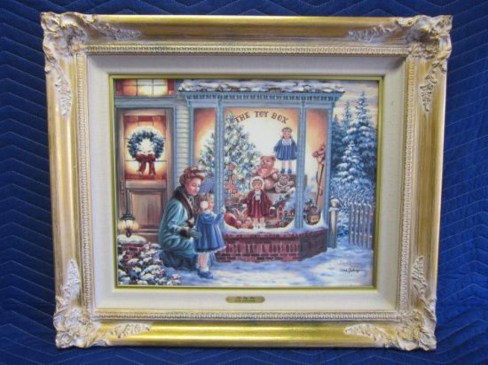 ''THE TOY BOX'' BY DONA GELSINGER, LIMITED EDITION CANVAS PRINT, 10/250 CANVAS, CERTIFICATE OF