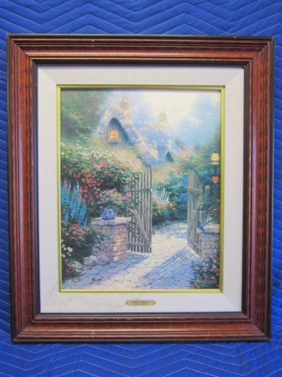 ''HIDDEN COTTAGE II'' BY THOMAS KINKADE, LIMITED EDITION OFFSET LITHOGRAPH, ARTIST PROOF, 121/400
