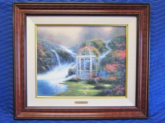 ''HIDDEN ARBOR'' BY THOMAS KINKADE, SECRET GARDEN PLACES II, LIMITED EDITION OFFSET LITHOGRAPH,