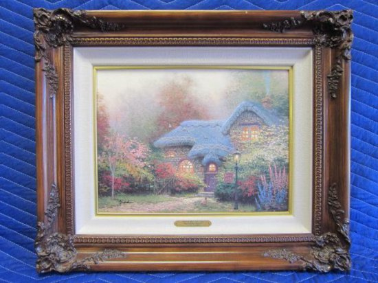 ''HEATHER'S HUTCH'' BY THOMAS KINKADE, SUGAR & SPICE COTTAGES I, LIMITED EDITION OFFSET LITHOGRAPH,