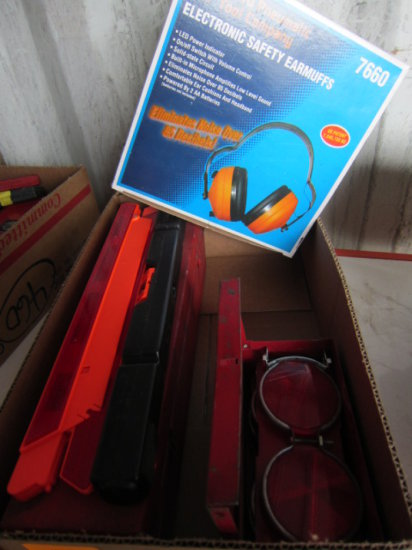 FLAT W/TRUCK SAFETY EQUIPMENT & EAR PROTECTION GEAR