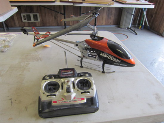 VOLITATION RC HELICOPTER W/FIVE CHANNEL CONTROLLER, NO CHARGER, MODEL #160