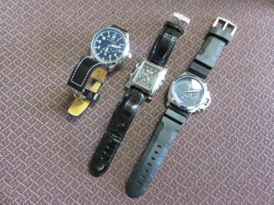 (1) IWC WATCH (FAKE), (1) PATRICK PHILIP WATCH (FAKE), (1) PANERAI WATCH (FAKE)