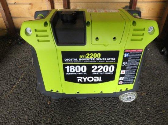 RYOBI RYI2200 DIGITAL INVERTER GENERATOR