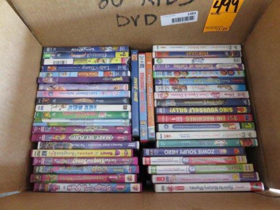 BOX W/80 KIDS DVD'S