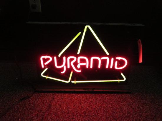 PYRAMID NEON SIGN