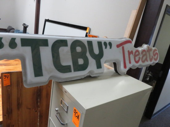 LIGHTED TCBY SIGN