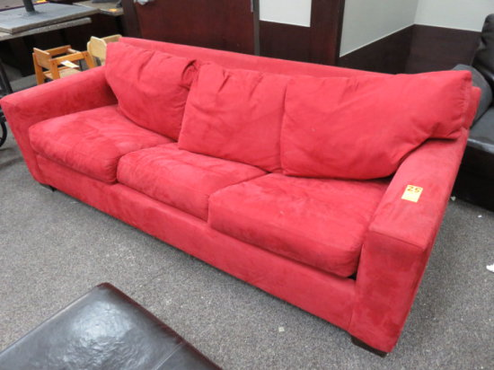 RED MICRO FIBER COUCH