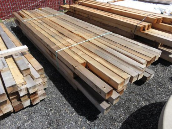 APPROX (45) ASSORTED SIZE 4X4 CEDAR FENCE POSTS