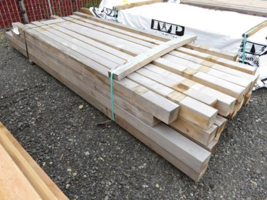 APPROX (45) 8' X 4'' AND 10' X 4'' CEDAR FENCE POSTS