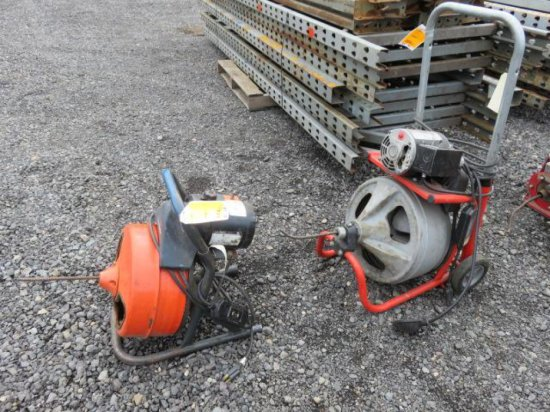 RIDGID K-100 RODDER MACHINE (MOTOR RUNS/DRUM DOES NOT) & GENERAL MINI ROOTER MACHINE
