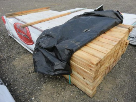 PALLET W/APPROXIMATELY (144) 8' X 2'' X 4'' CEDAR BOARDS