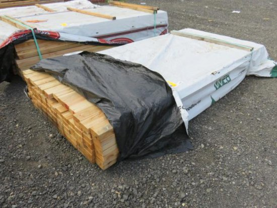 "PALLET W/APPROX. (83) 4"" X 2'' X 8' CEDAR BOARDS"