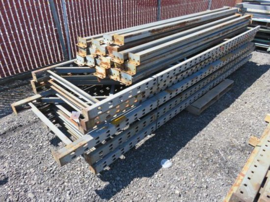 PALLET RACKING - (8) 36'' X 12' UPRIGHTS & (20) 9' CROSSARMS