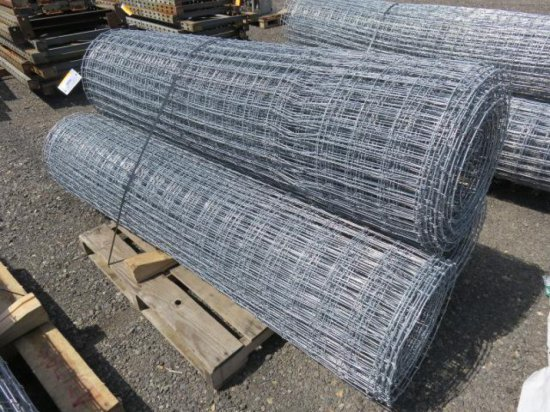 PALLET W/(3) ROLLS OF 6' FIELD FENCING