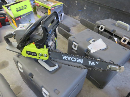 RYOBI 2 CYCLE 16'' GAS CHAIN SAW MODEL RY3716 SN#EU16031D20994