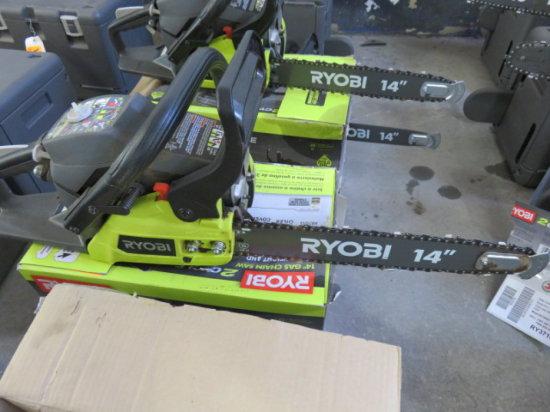 RYOBI 2 CYCLE 14'' GAS CHAIN SAW MODEL RY3714 SN#EU16075D021198