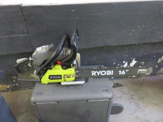 RYOBI 2 CYCLE 16'' GAS CHAIN SAW MODEL RY3716 SN#EU16082D021077