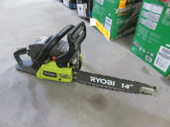 RYOBI 2 CYCLE 14'' GAS CHAIN SAW MODEL RY3714 SN#EU15421D021020