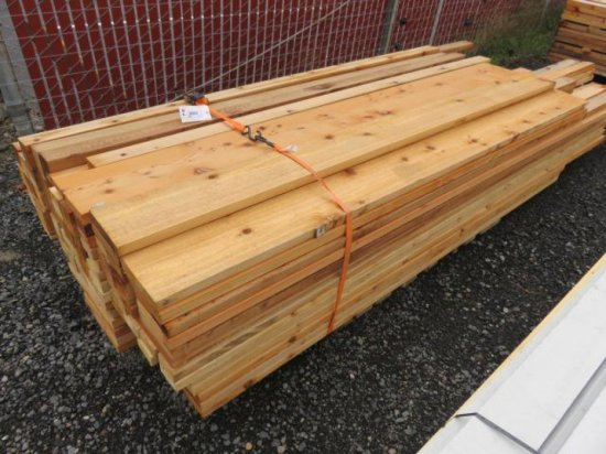 PALLET OF VARIOUS SIZED CEDAR LUMBER