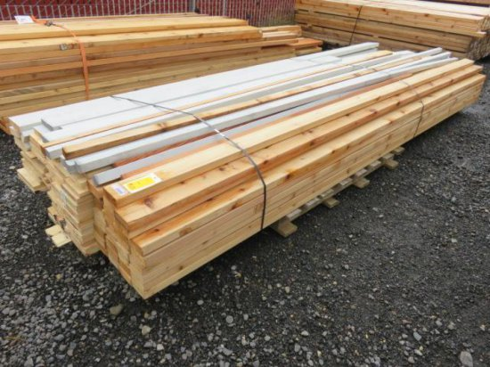 BUNDLE W/MIXED LUMBER, VARIOUS SIZED PRIMED SPRUCE