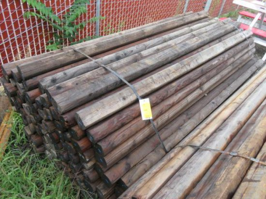 LOT OF APPROX. (98) 8' WOOD FENCE POSTS