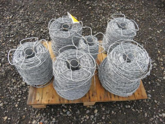 (6) ROLLS OF VARIOUS LENGTH BARBED WIRE