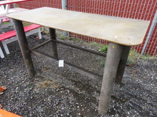 HEAVY DUTY METAL WORK TABLE
