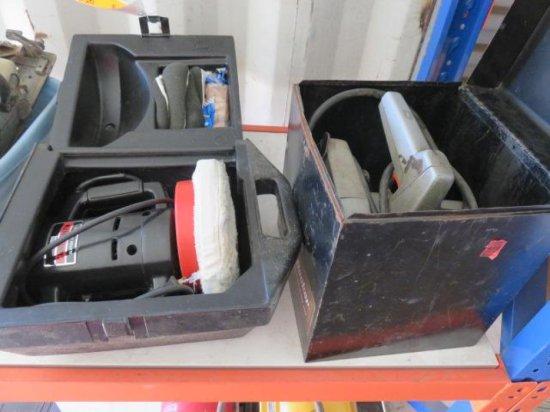 CRAFTSMAN BUFFER POLISHER W/CASE & BLACK & DECKER 7 1/4'' ELECTRIC CIRCULAR SAW W/METAL CASE