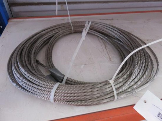 (2) ROLLS OF STEEL CABLE