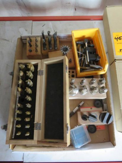 BOX OF MILLING TOOLS & BOX OF MILLING BITS