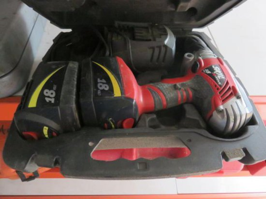 SKIL 2887 18 VOLT DRILL W/(2) BATTERIES, CHARGER, & CASE