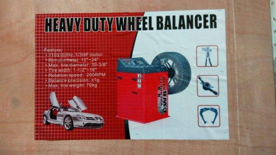 HEAVY DUTY WHEEL BALANCER, 110V, 60HZ