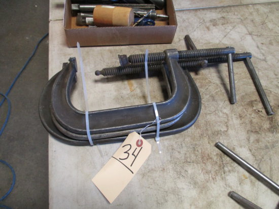 LOT OF 3 C CLAMPS