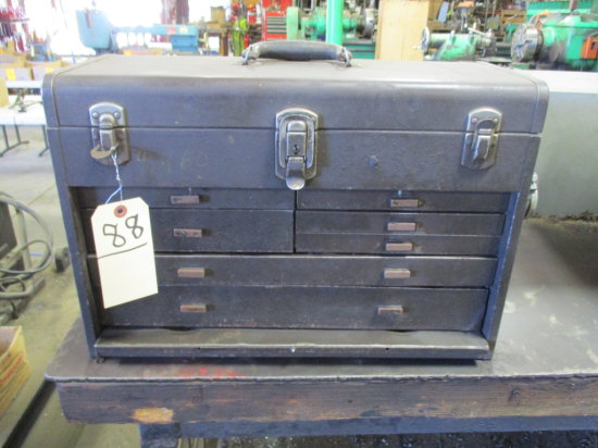 KENNDEDY MACHINIST TOOL BOX WITH CONTENTS
