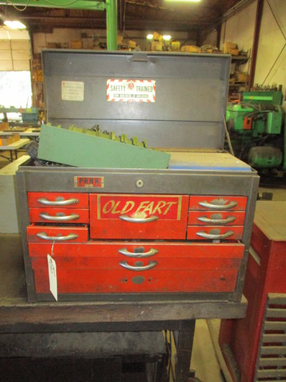 PARK MACHINIST TOOL BOX WITH CONTENTS