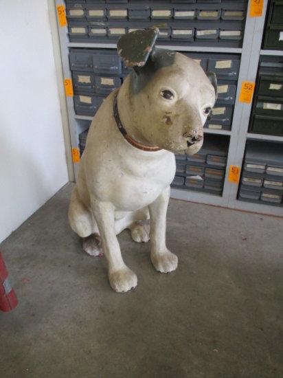 VICTROLA ''NIPPER'' DOG DISPLAY, CIRCA 1920, PAPER MACHE APPROX 38'' TALL