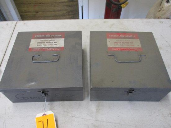 LOT 2 METAL BOXES GE MOTOR REBUILD PARTS